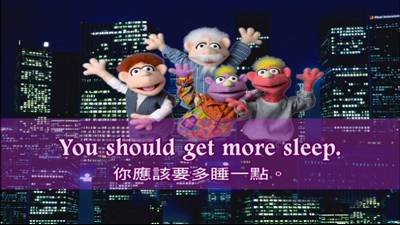 You should get more sleep.