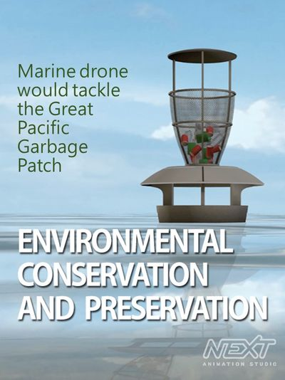 Marine drone would tackle the Great Pacific Garbage Patch