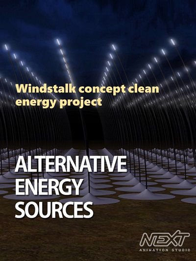 Windstalk concept clean energy project