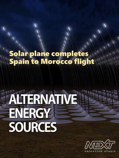 Solar plane completes Spain to Morocco flight