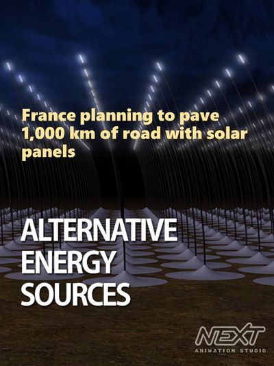 France planning to pave 1,000 km of road with solar panels